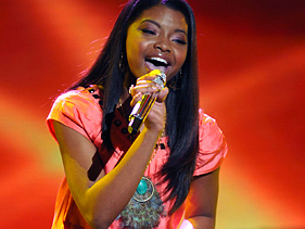 "Jasmine Murray performs on ""American Idol"" on Wednesday"